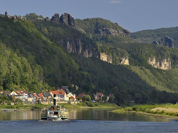 Dampfer in der Sächsischen Schweiz